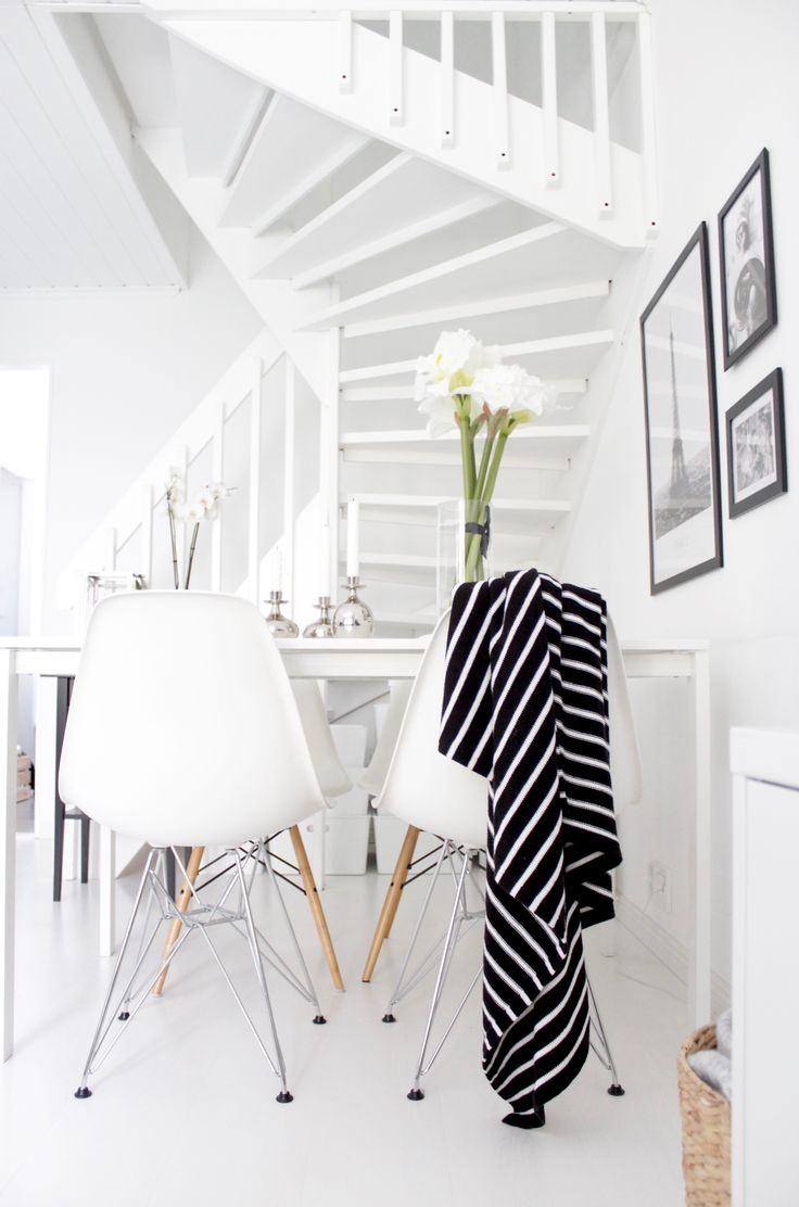 Eames chairs | black and white interior