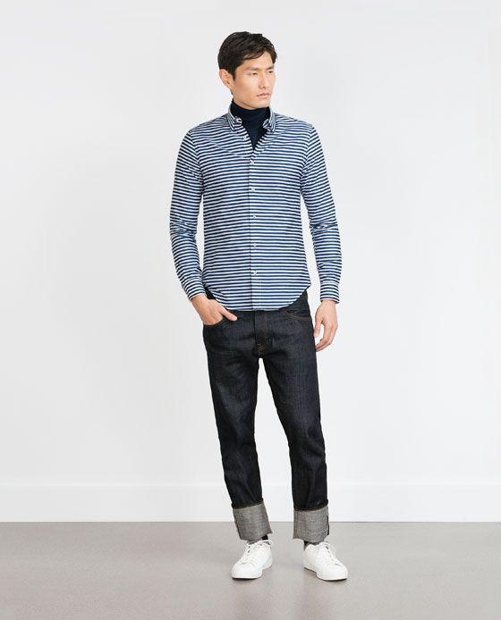 ZARA - MAN - HORIZONTAL STRIPE SHIRT