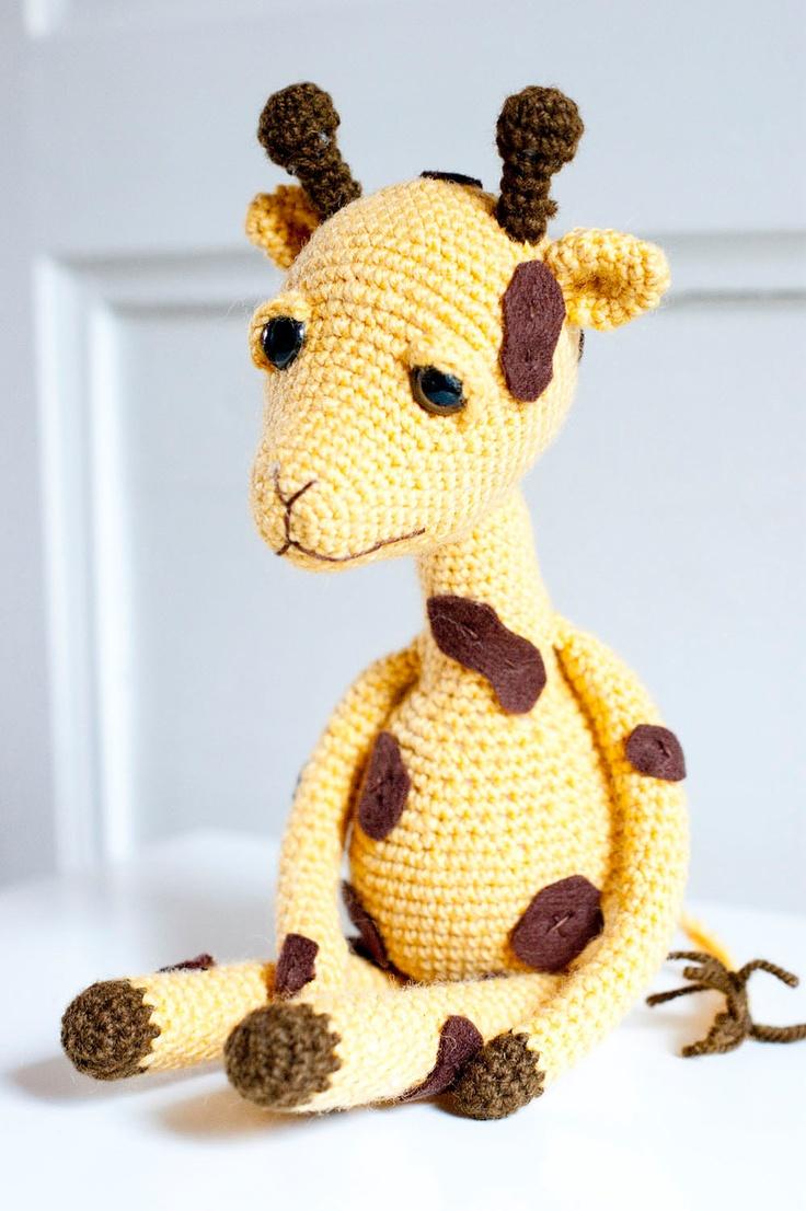 Amigurumi Hakelanleitung Gina Giraffe : Amigurumi giraffe, soft sculpture, soft toy - Gina the ...