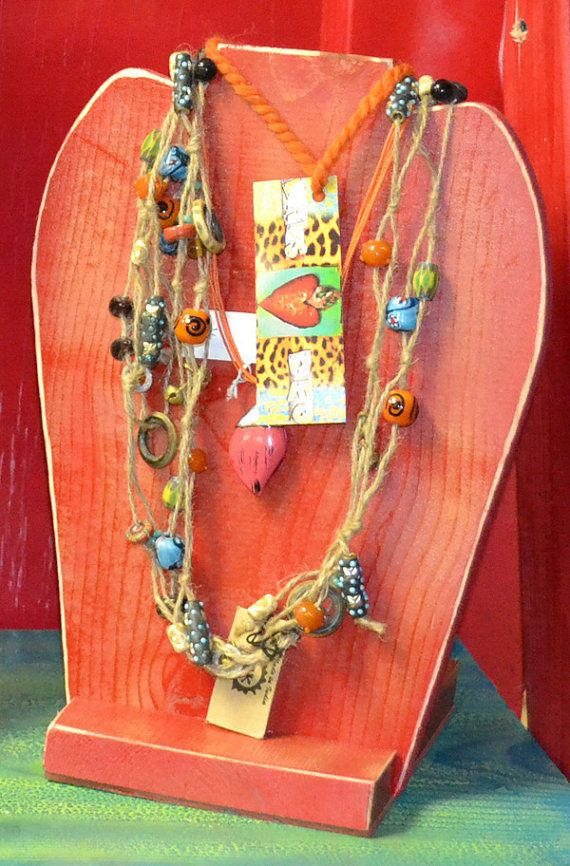 For craft shows jewelry display ideas pinterest for Display necklaces craft fair
