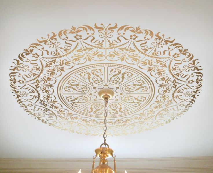 Decorative Stencil Georgian Ceiling Medallion - DIY home decor. $54.95, via Etsy.