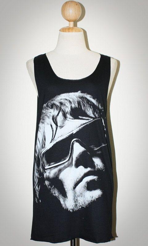 Ian Brown The Stone Roses Black Singlet Tank Top Sleeveless Women Art Punk Rock T-Shirt Size M