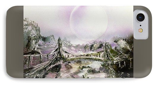 Bridge Of Spirits IPhone 7 Case Printed with Fine Art spray painting image Bridge Of Spirits by Nandor Molnar (When you visit the Shop, change the orientation, background color and image size as you wish)