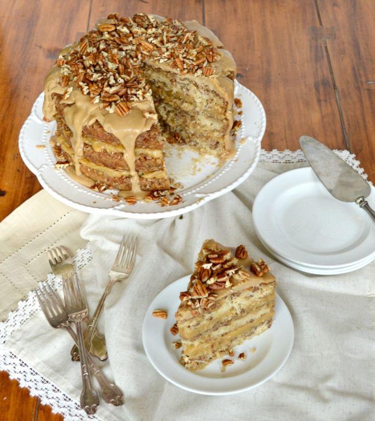 Pecan pie cake bars recipe