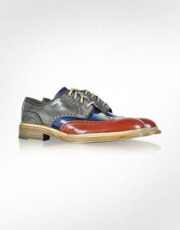 Forzieri Multicolor Wingtip Oxford Shoes