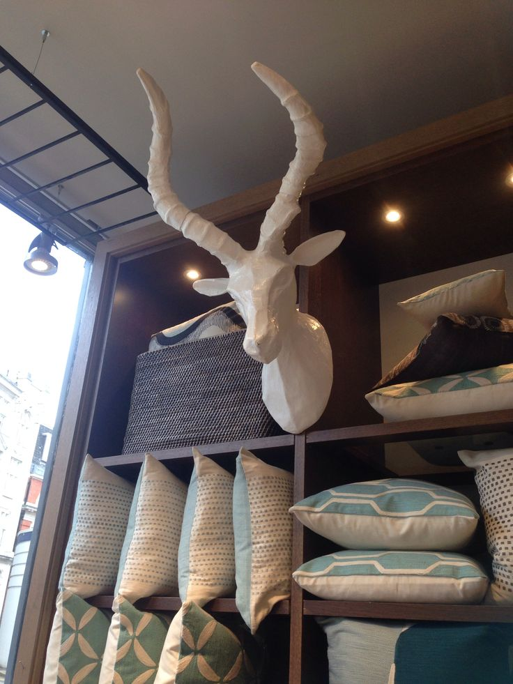 Paper mâché animal head ?for landing/hall/picture wall. West elm £79