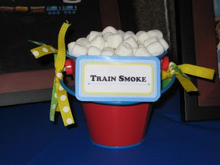Thomas The Train Birthday Party - Train Smoke