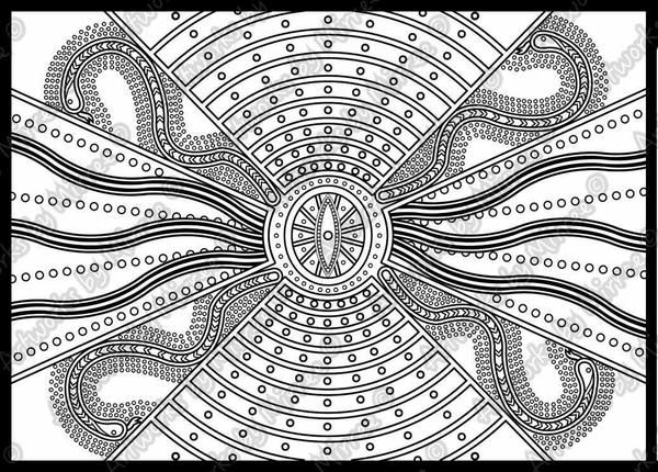 39 Dreamtime Colouring Book 39 COLOURING BOOK by Mirree
