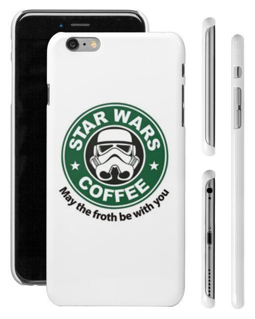 Starbucks Star Wars Inspired Stormtrooper iPhone 4/4s 5/5s 6 Plus Phone Case