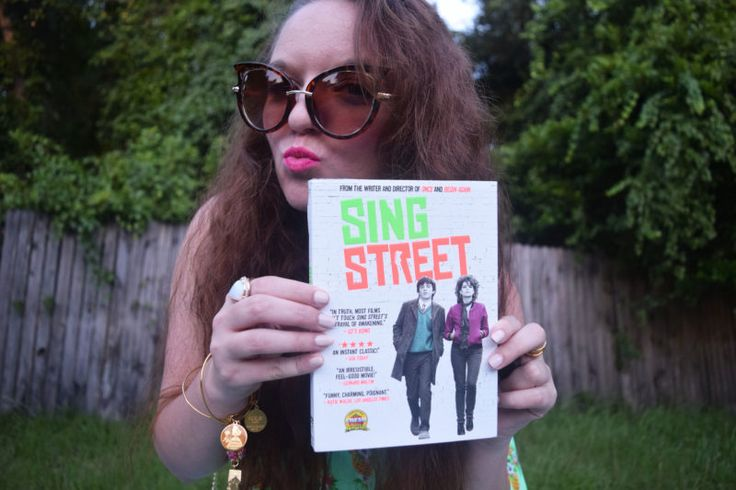 Swingin' to the 80's with a hot pink lipstick and Sing Street on DVD