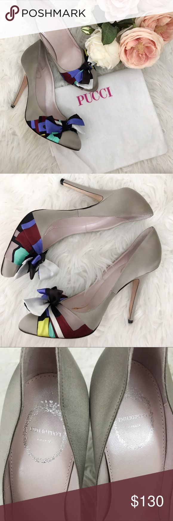 """Authentic Emilio Pucci Satin Pumps 👠 4.5"""" heel • made in Italy 🇮🇹 • new without box, dust bag only Emilio Pucci Shoes Heels"""