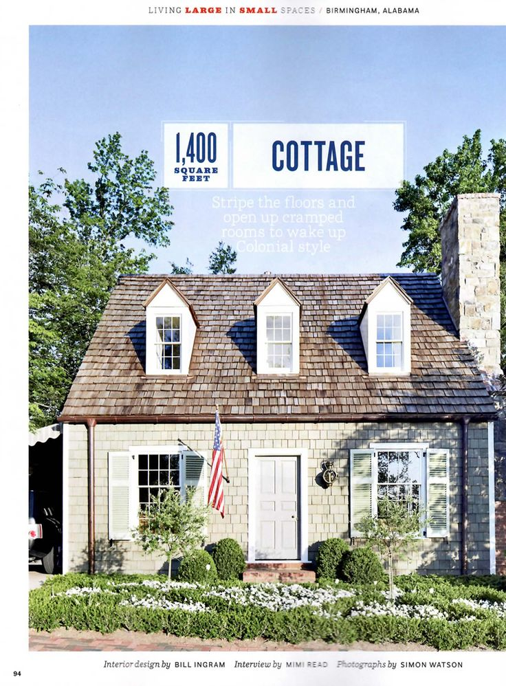 Cottage in birmingham we saw on the mls last year and then for Cottage design magazine