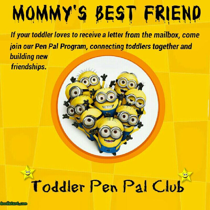 Pen Pal Buddies ProgramAvailable for tots and kids, sign