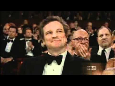 Colin Firth at the Oscars for the King's Speech