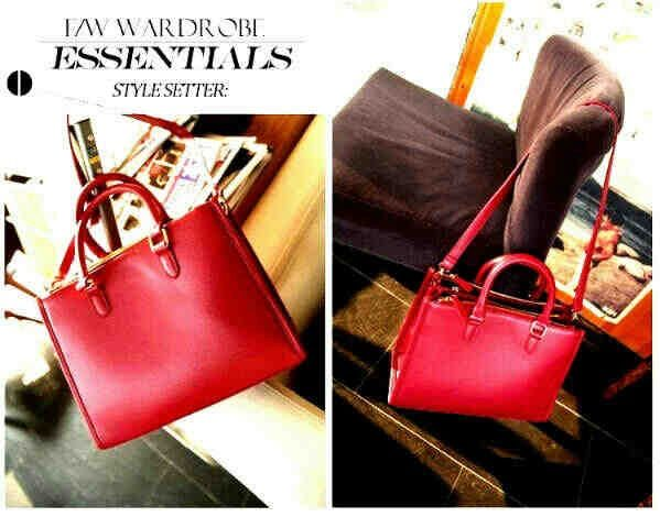 Hot red simple bag