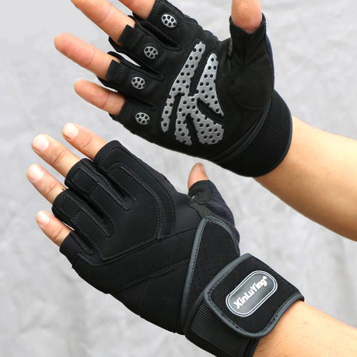 XINLUYING Gym Crossfit luva Fitness Gloves Long Wrist Belt Body Building powerlifting equipment Gloves Barbell Dumbbell pull