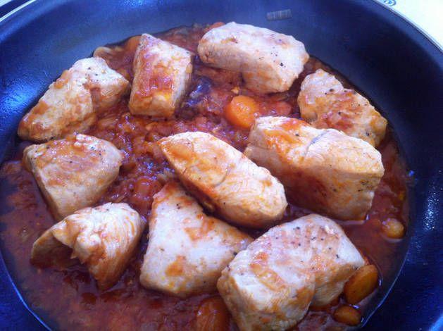 Solomillo de pavo en salsa