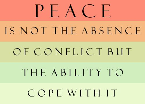 Never heard truer words about the meaning of peace.