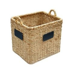 Smith & Hawken® Square Basket with chalkboard; 18