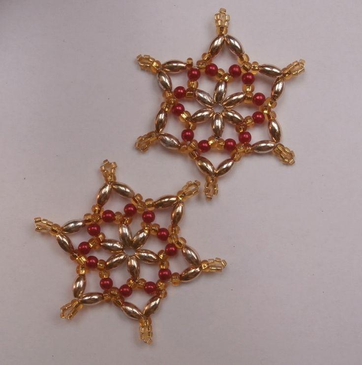 Korálkové hvězdy, malé řervenozlaté bez kostry