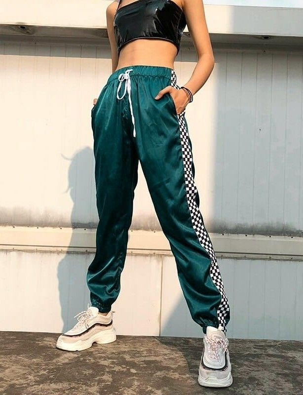 2f40f22d6304ed Checkerboard Green Sweatpants | ootd | Fashion, Outfits, Green ...
