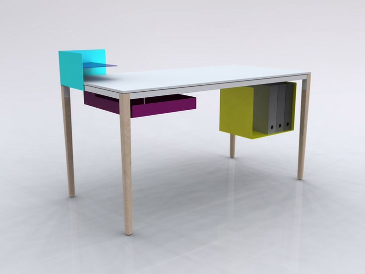 Boundary Desk Is A Multifunctional Piece, Created By British Designer Felix  De Pass. Aimed At Both Home And Office Environments, The Desk Can Be  Adapted To ...