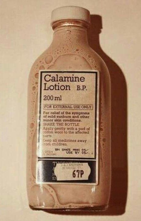 Calamine Lotion - was covered in this when I had chicken pox.