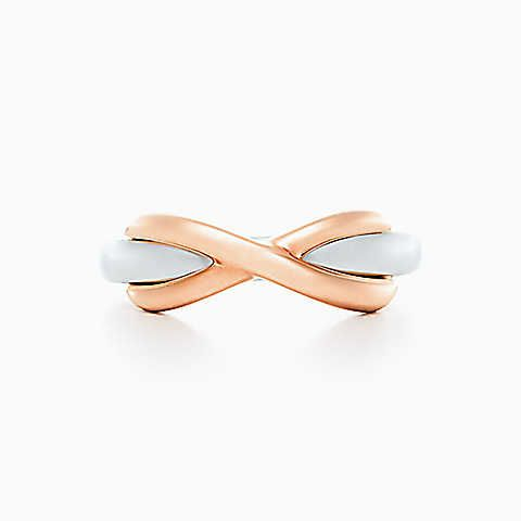 Tiffany Infinity ring in sterling silver and 18k rose gold.