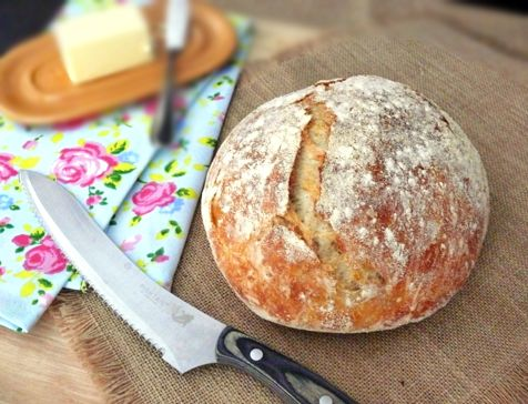 Don't be afraid of homemade, fresh bread. It's easier than it looks, especially with this French Boule recipe!
