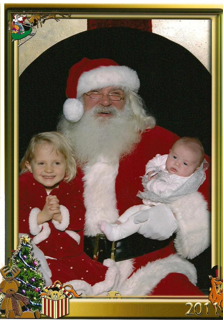 Holly, April, and Santa 2011