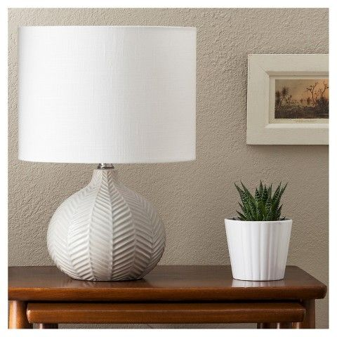 Herringbone Ceramic Table Lamp   Gray   Threshold™