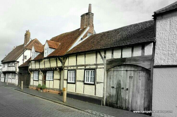 Cottages in Titchfield Hampshire where my Grandfather was born in 1922