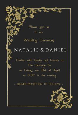 116 best Wedding Invitation Templates images on Pinterest