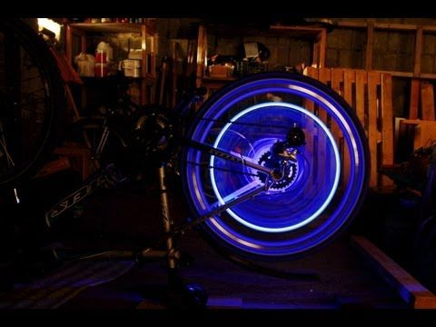 DIY Bike wheel LED lightning for cheap(mini jack 3.5 mm based!!!) подсветка колеса велосипеда