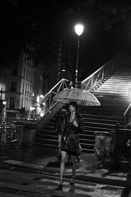 Peter Lindberg Le Monde ''Serie noire pour belle de nuit'': Portraits Idea, Noir Pin