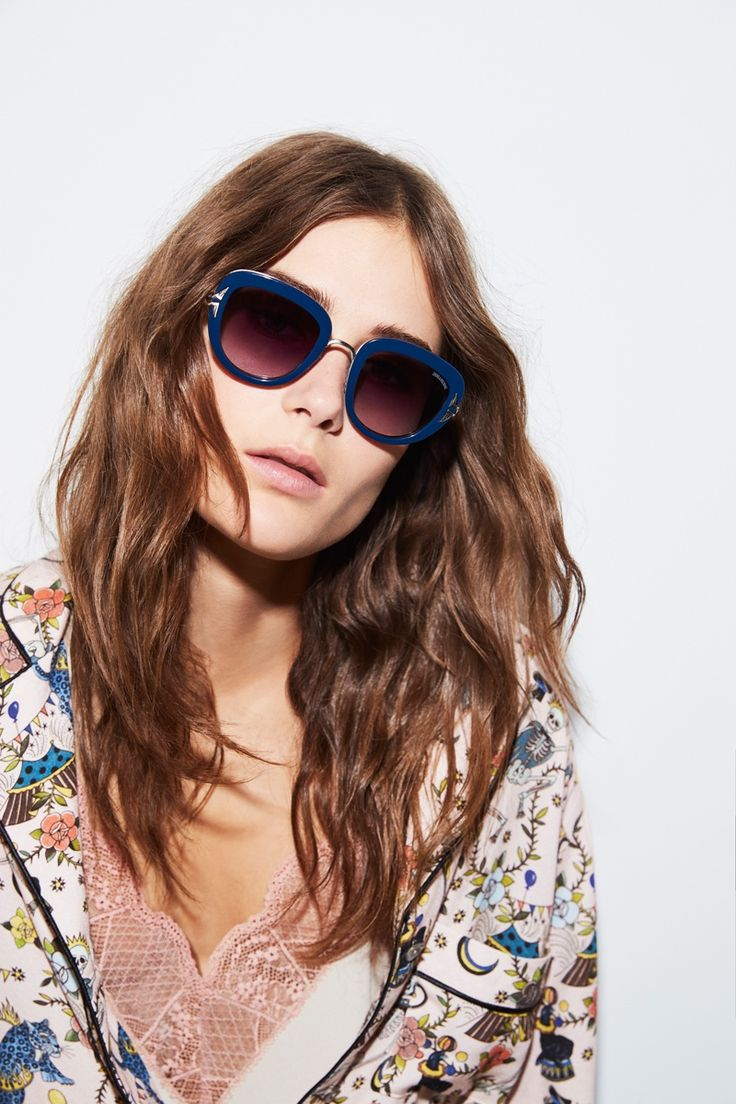 Vera Van Erp poses in chic sunglasses for Zadig & Voltaire's spring 2017 advertising campaign