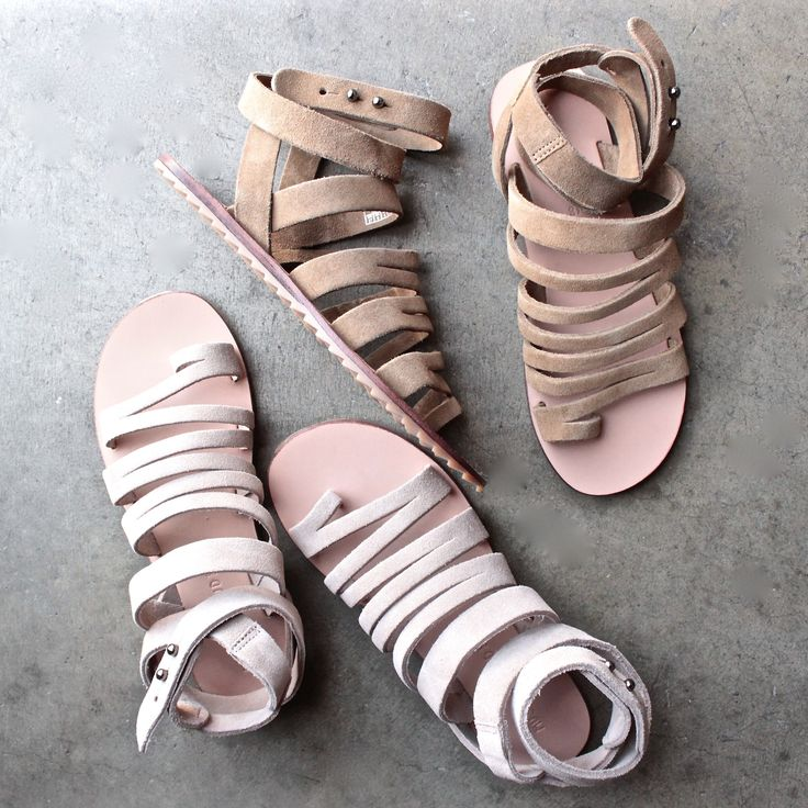 musse & cloud 'Intense' flat suede sandal (Women) - shophearts - 1
