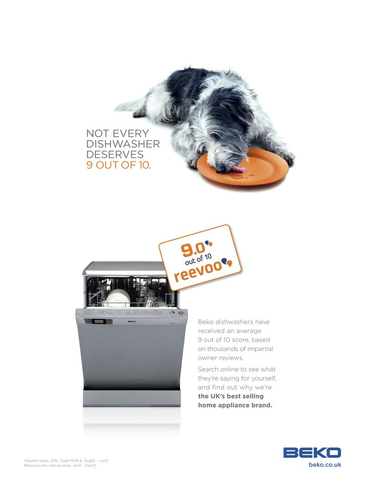 Beko's UK latest campaign featuring Reevoo ratings. #Beko #appliances
