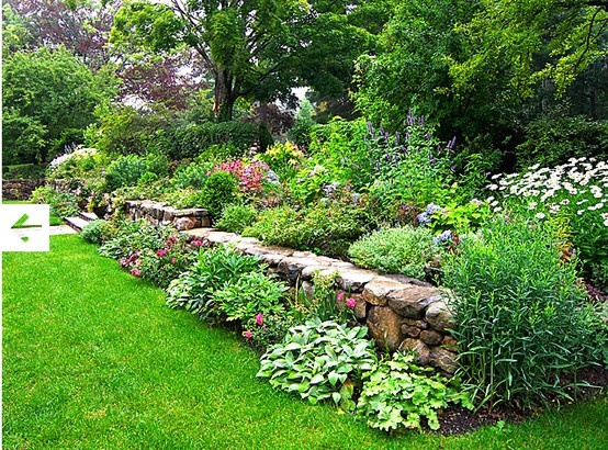66 best images about rock wall garden ideas on pinterest for Rock wall garden designs