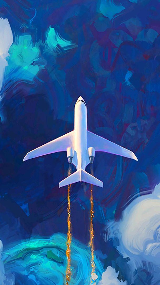 Jet Plane On Atlantic Iphone Wallpaper Iphone Wallpapers
