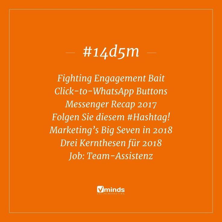 """Der letzte Teil unserer News-Zusammenfassung """"14 Tage 5 Minuten"""" für dieses Jahr  Mit Neuerungen im #Facebook Feed Rück- und Ausblicken!  Link in Bio!  . #onlinemarketing #14d5m #news #newsletter #vonprofisfürprofis #2017 #ausblick #2018 #marketing #instagood #strategy #agency #rostock"""