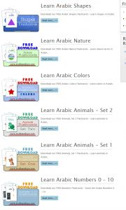 Studio Arabiya Free Downloadable Arabic Learning Flash Cards