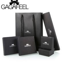 Gagafeel черная бумага подарочная коробка для колец ожерелье браслет серьги комплект ювелирных изделий Ювелирная упаковка(China (Mainland))