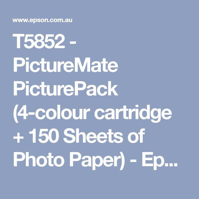 T5852 - PictureMate PicturePack (4-colour cartridge + 150 Sheets of Photo Paper) - Epson Australia Online