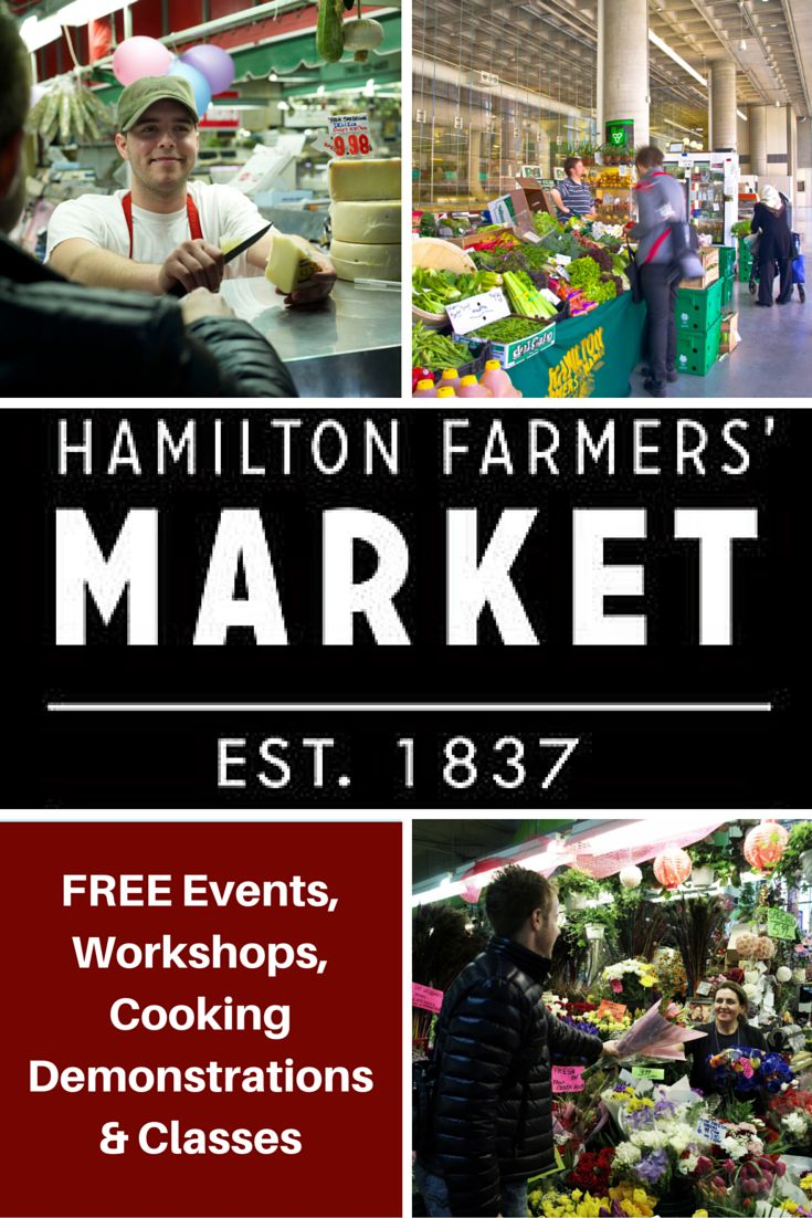 The Hamilton Farmers' Market hosts a variety of free food and culture events, workshops, demonstrations and more for all ages and abilities. Be inspired by chefs, cooks and food experts that turn market fresh ingredients into quick delicious recipes you can make at home.