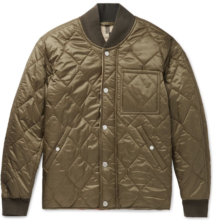 <a href='http://www.mrporter.com/mens/Designers/Burberry'>Burberry</a>'s quilted shell bomber jacket is an elevated casual option for all seasons. Cut comfortably, it's lined with the house's 'London' check and lightly padded for extra warmth. Build a cool look with a pair of trim trousers and polished shoes.
