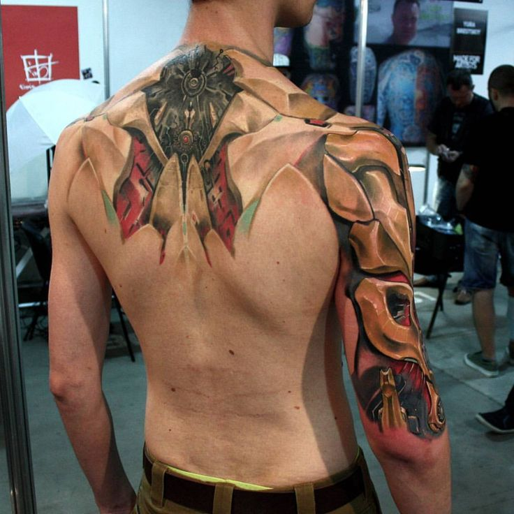 #spine #arm #cyberpunk #cyber #cyborg #cybertattoo #deusex #augmentation…