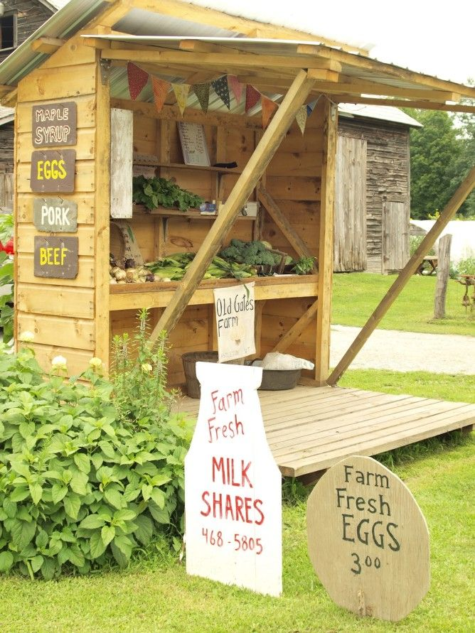 Roadside Stand Designs : Best ideas about farm stand on pinterest farmers