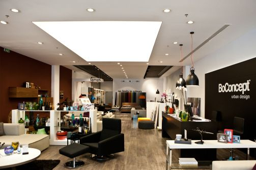 Interior view of BoConcept store. To see the whole project visit http://www.akpraxis.gr/portfolio/bo-concept/