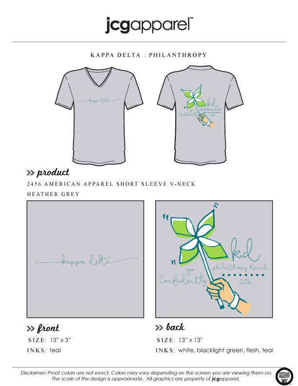 JCG Apparel : Custom Printed Apparel : Kappa Delta Philanthropy T-Shirt…